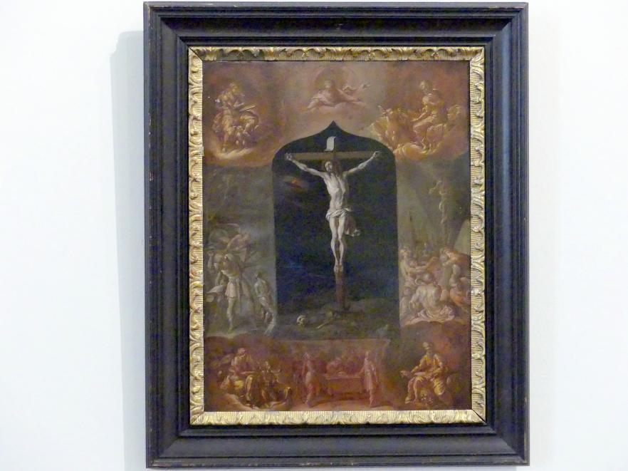Johann Karl von Reslfeld: Der gekreuzigte Jesus und sieben biblische Szenen, Undatiert