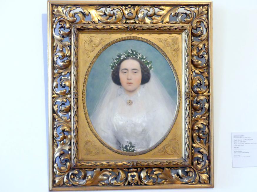 Gustav Klimt: Marie Kerner von Marilaun als Braut im Jahr 1862, 1891 - 1892