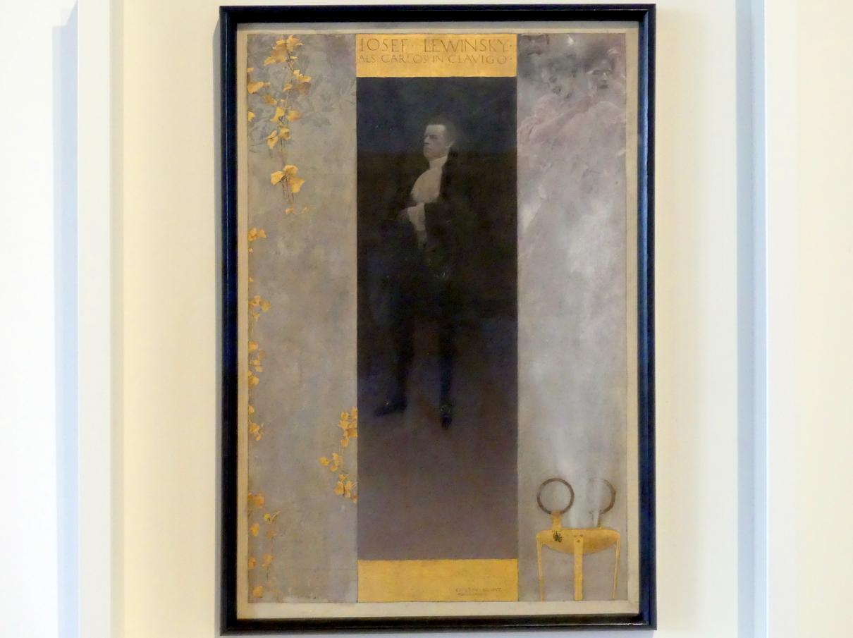 Gustav Klimt: Josef Lewinsky als Carlos in Clavigo, 1895