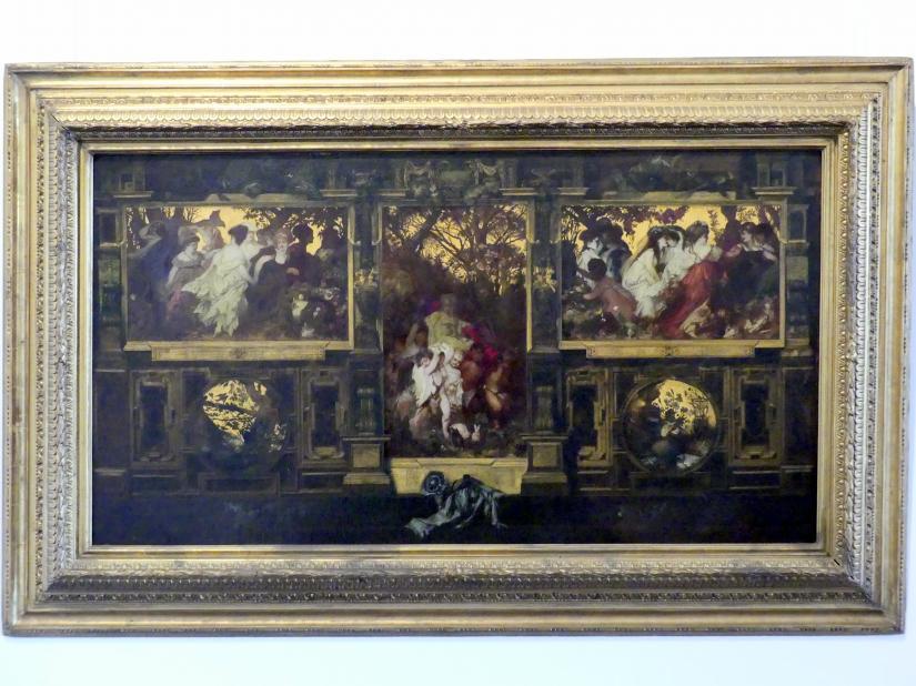 Hans Makart: Moderne Amoretten - Entwurf zur Dekoration einer Wand, 1868