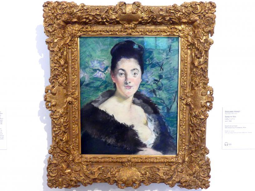 Édouard Manet: Dame im Pelz, um 1880
