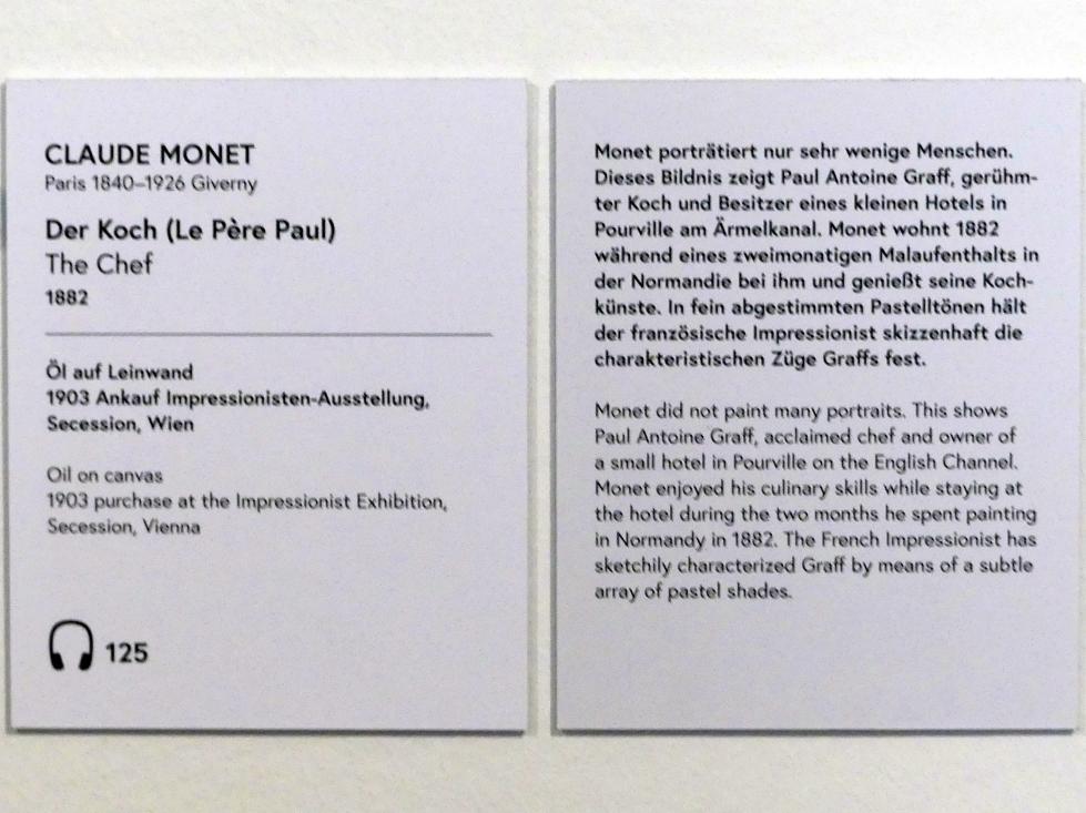Claude Monet: Der Koch (Le Père Paul), 1882, Bild 2/2