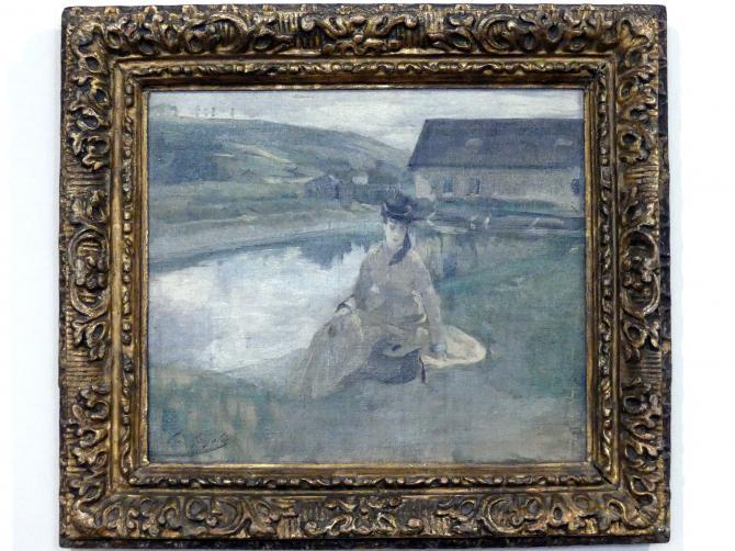Eva Gonzalès: Am Wasser, um 1880