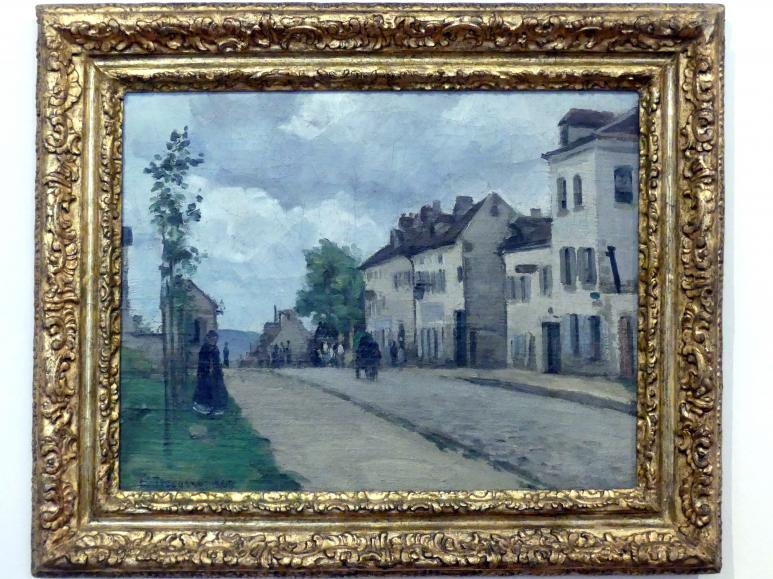 Camille Pissarro: Straße in Pontoise (Rue de Gisors), 1868