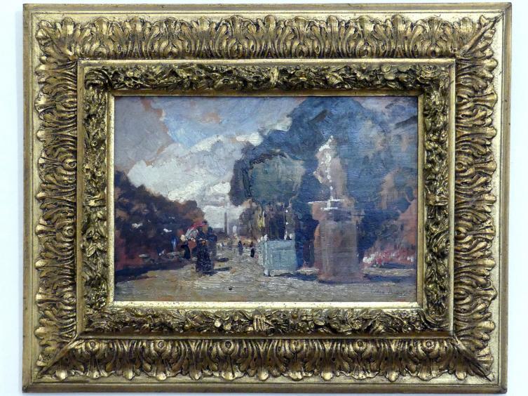 Tina Blau: Aus den Tuilerien - Sonniger Tag, 1883