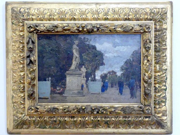 Tina Blau: Aus den Tuilerien - Grauer Tag, 1883