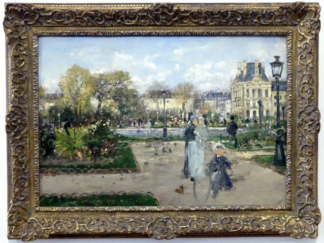Theodor von Hörmann: In den Tuilerien, um 1888