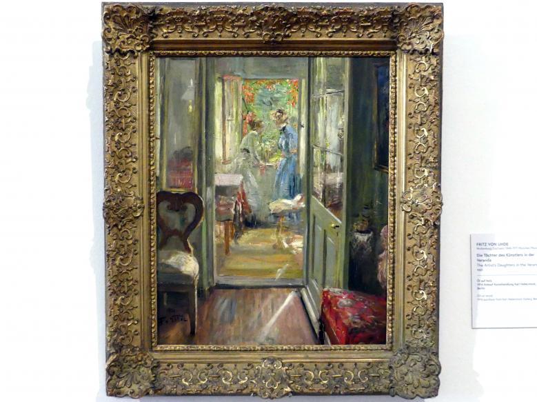Fritz von Uhde: Die Töchter des Künstlers in der Veranda, 1901