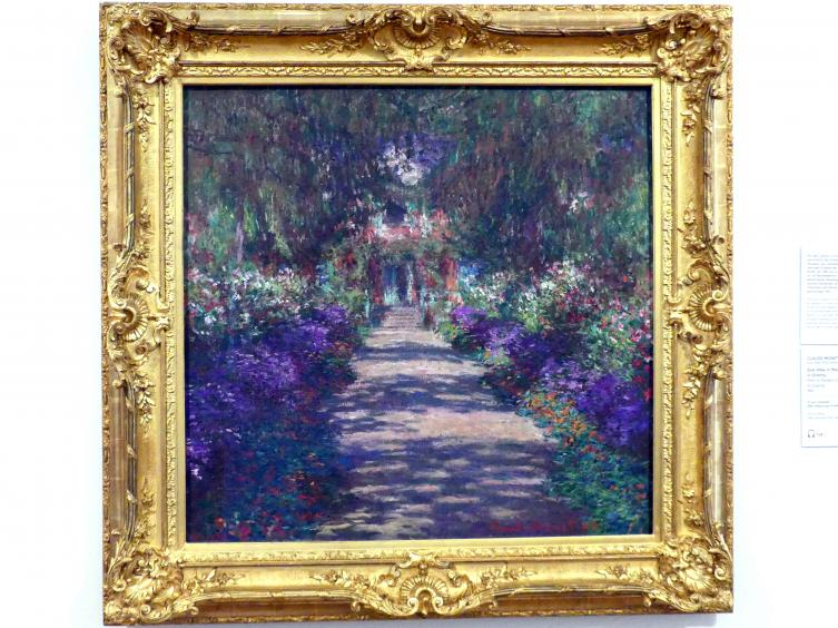 Claude Monet: Eine Allee in Monets Garten in Giverny, 1902