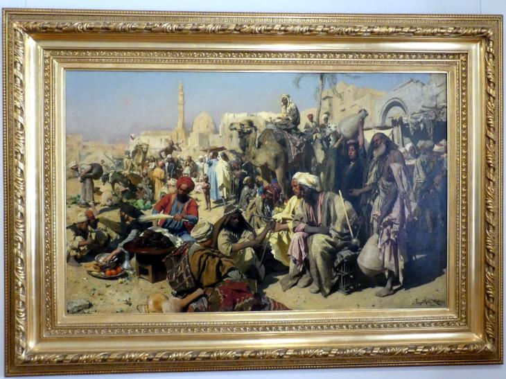 Leopold Carl Müller: Markt in Kairo, 1878