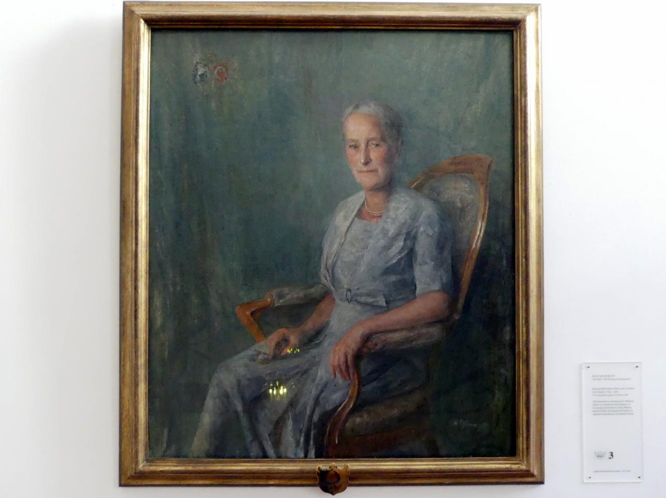 Hans Jakob Mann: Baronin Hilda Sophia Helene (gen. Hermine) von Schaezler (1892-1986), 1959