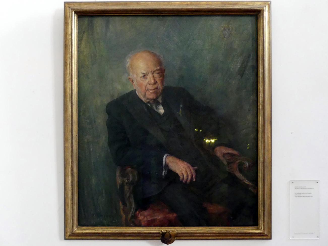 Hans Jakob Mann: Dr. Wolfgang Freiherr von Schaezler (1880-1967), 1959