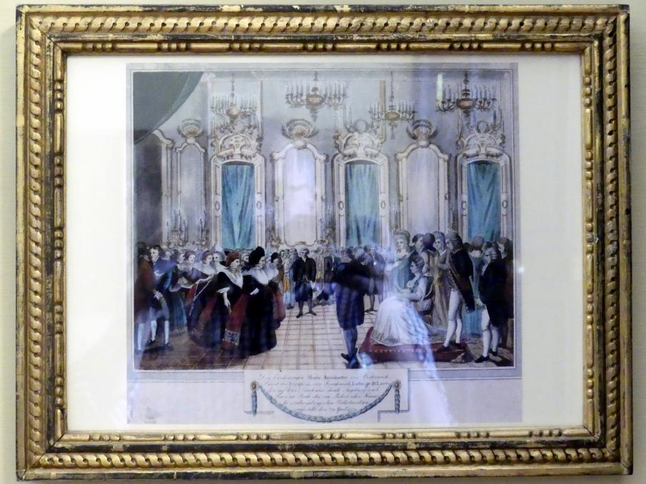 Franz Thomas Weber: Besuch von Prinzessin Marie Antoinette von Habsburg-Lothringen im Schaezlerpalais, 1819