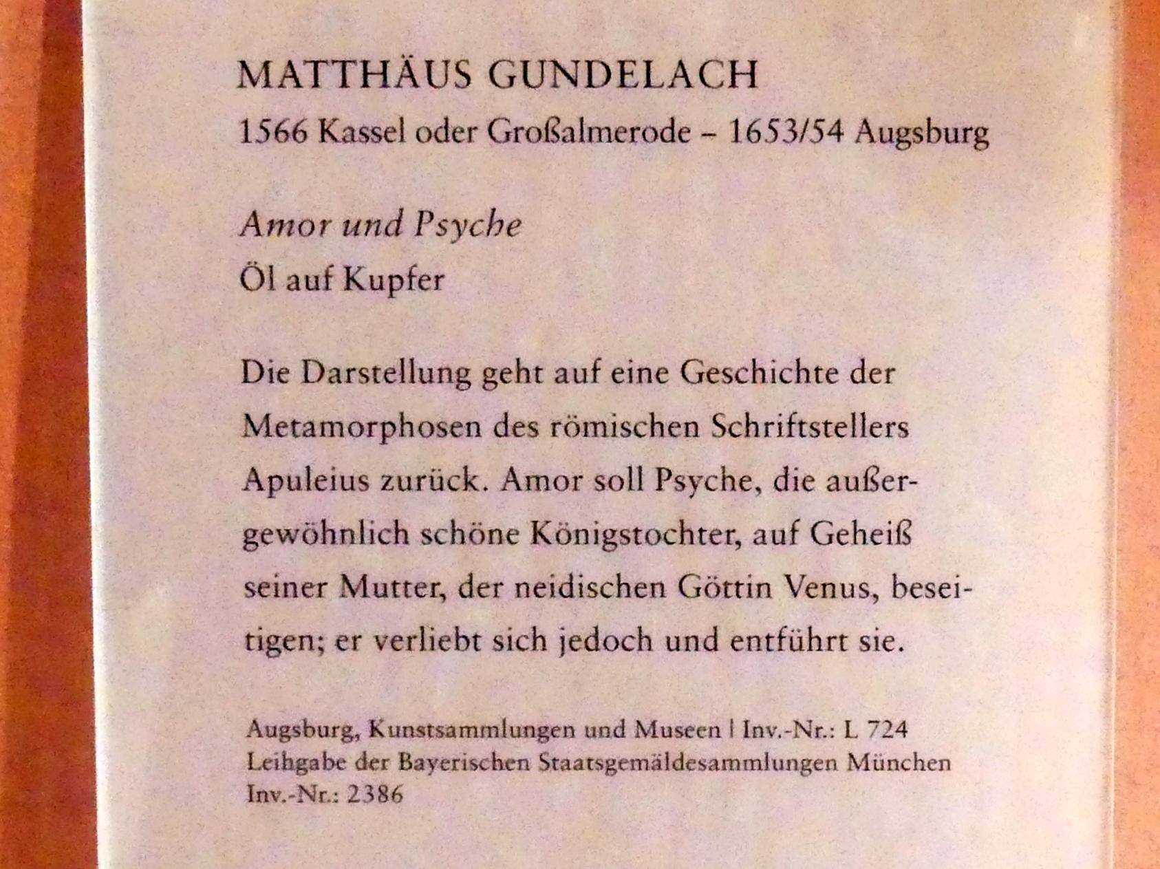 Matthäus Gundelach: Amor und Psyche, Undatiert