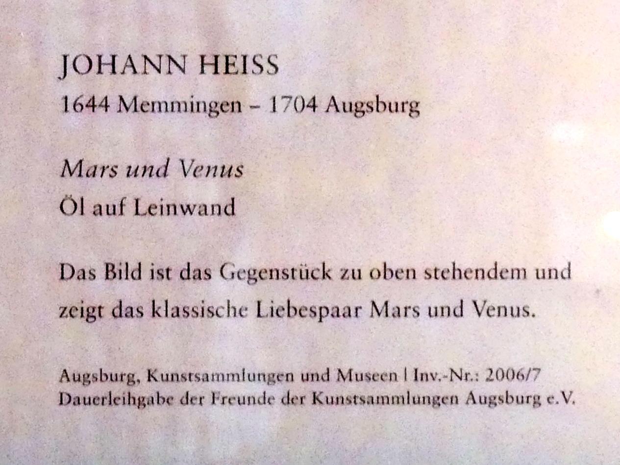 Johann Heiss: Mars und Venus, Undatiert, Bild 2/2