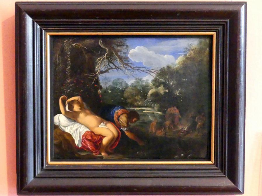 Adam Elsheimer (Umkreis): Apollo und Coronis, um 1607 - 1608