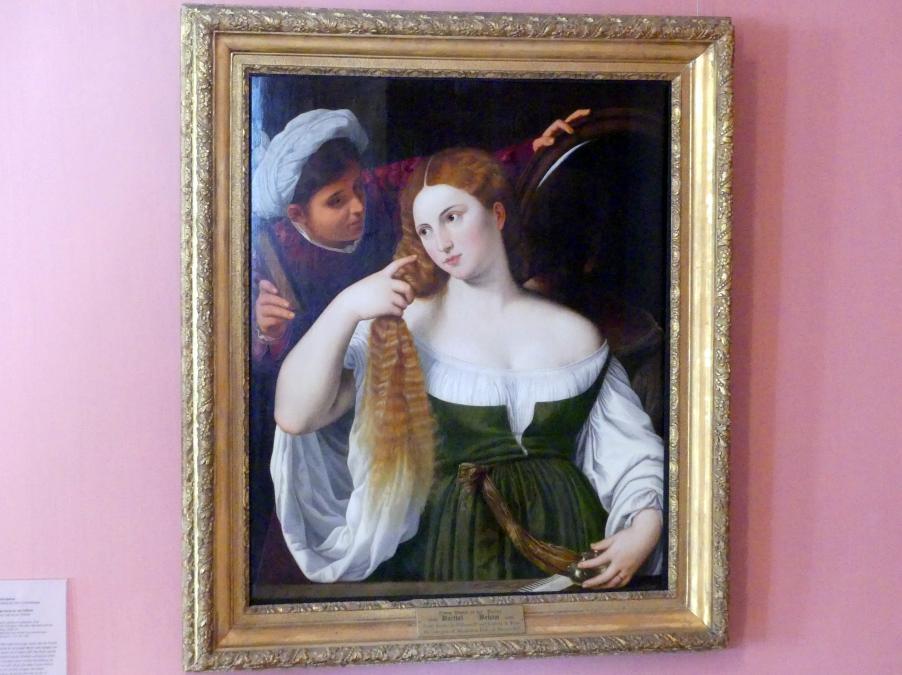 Barthel Beham: Junge Dame bei der Toilette, 1534