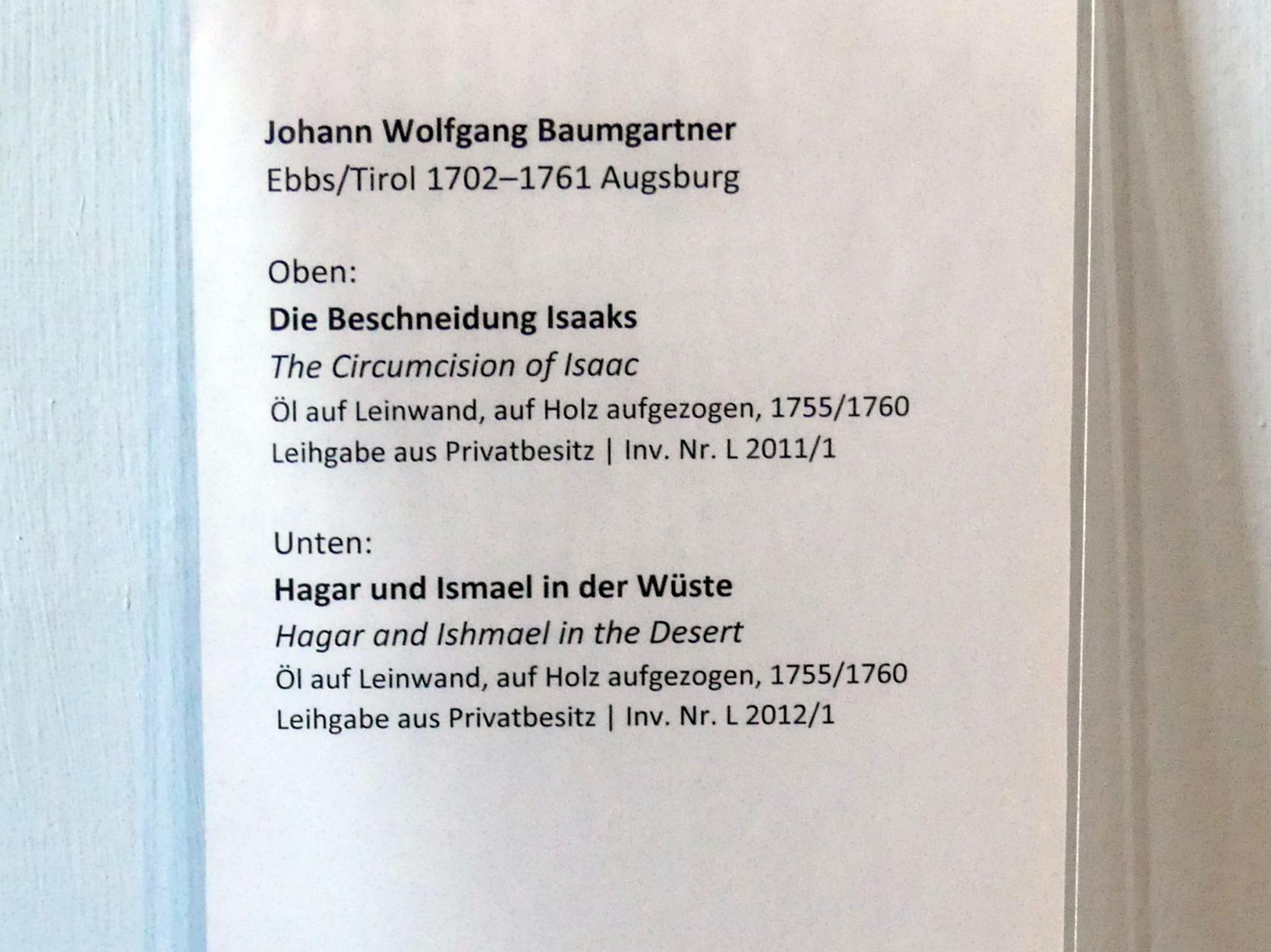 Johann Wolfgang Baumgartner: Die Beschneidung Isaaks, 1755 - 1760, Bild 2/2