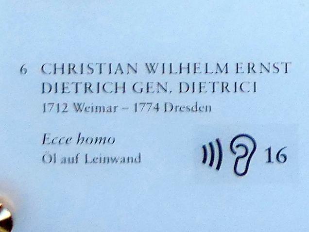 Christian Wilhelm Ernst Dietrich: Ecce homo, 1747, Bild 2/2
