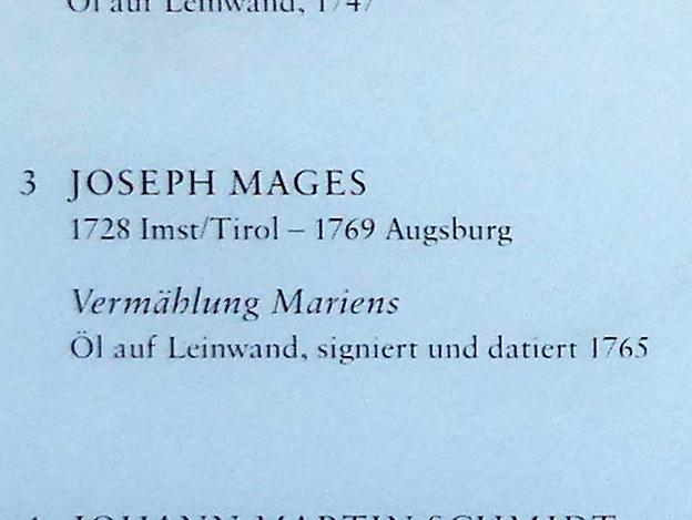 Joseph Mages: Vermählung Mariens, 1765, Bild 2/2