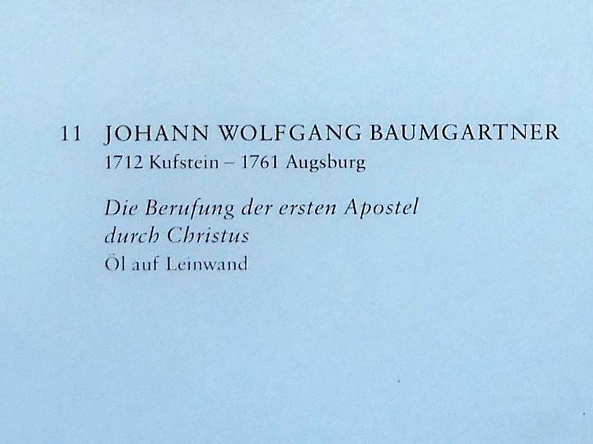 Johann Wolfgang Baumgartner: Die Berufung der ersten Apostel durch Christus, Undatiert