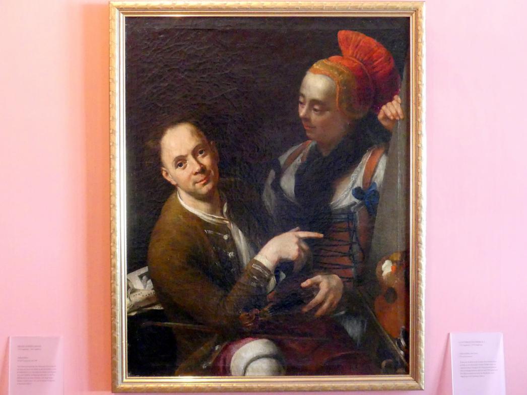 Gottfried Eichler der Jüngere: Selbstbildnis mit Frau, Um 1750 - 1760