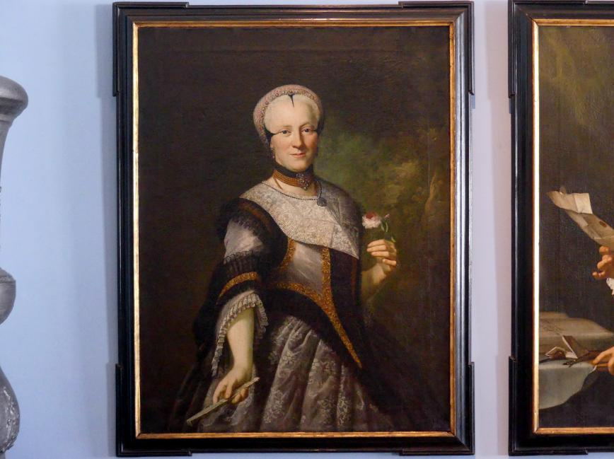 Anton Graff: Jakobine Barbara Mayer, geb. Haid (um 1739 - vor 1799), Um 1760 - 1770
