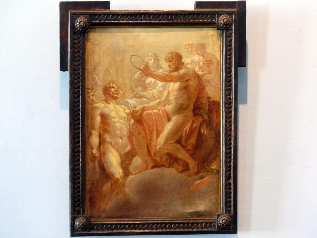Heinrich Friedrich Füger: Herkules Aufnahme in den Olymp, Undatiert
