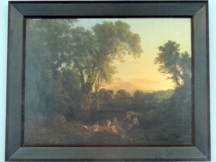 Károly Markó der Ältere: Ideale Landschaft mit badenden Nymphen, 1854