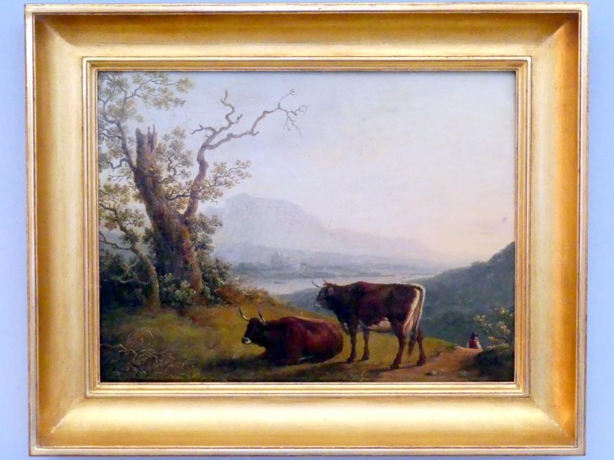 Jakob Philipp Hackert: Kühe vor einem Flusstal, um 1800