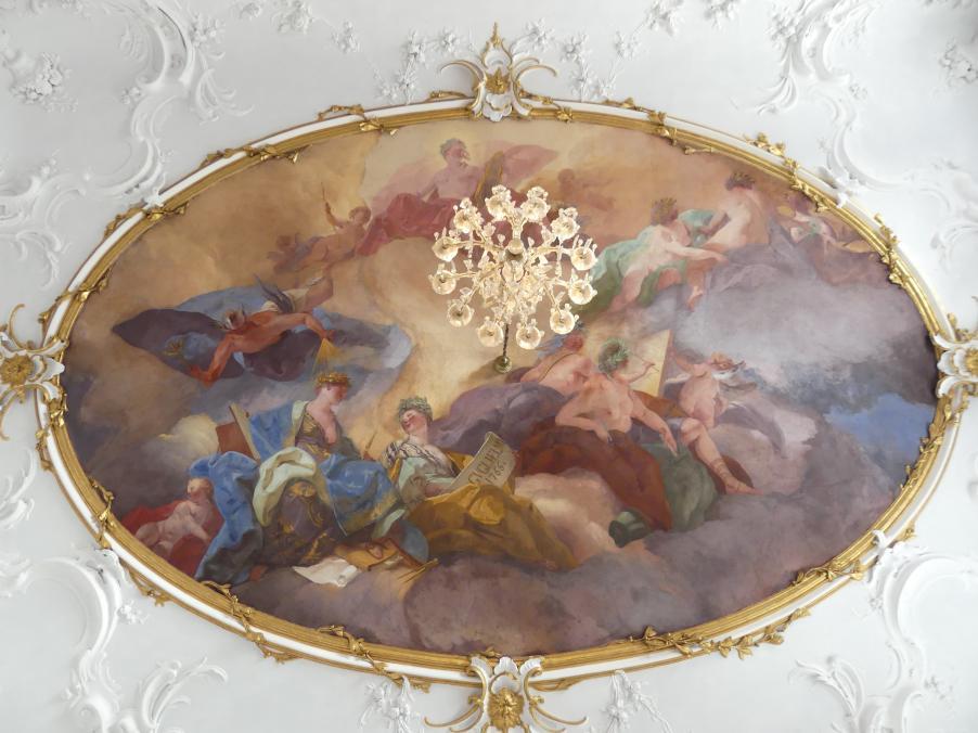 Gregorio Guglielmi: Die Sieben freien Künste unter dem Schutz von Merkur und Apollo, 1766