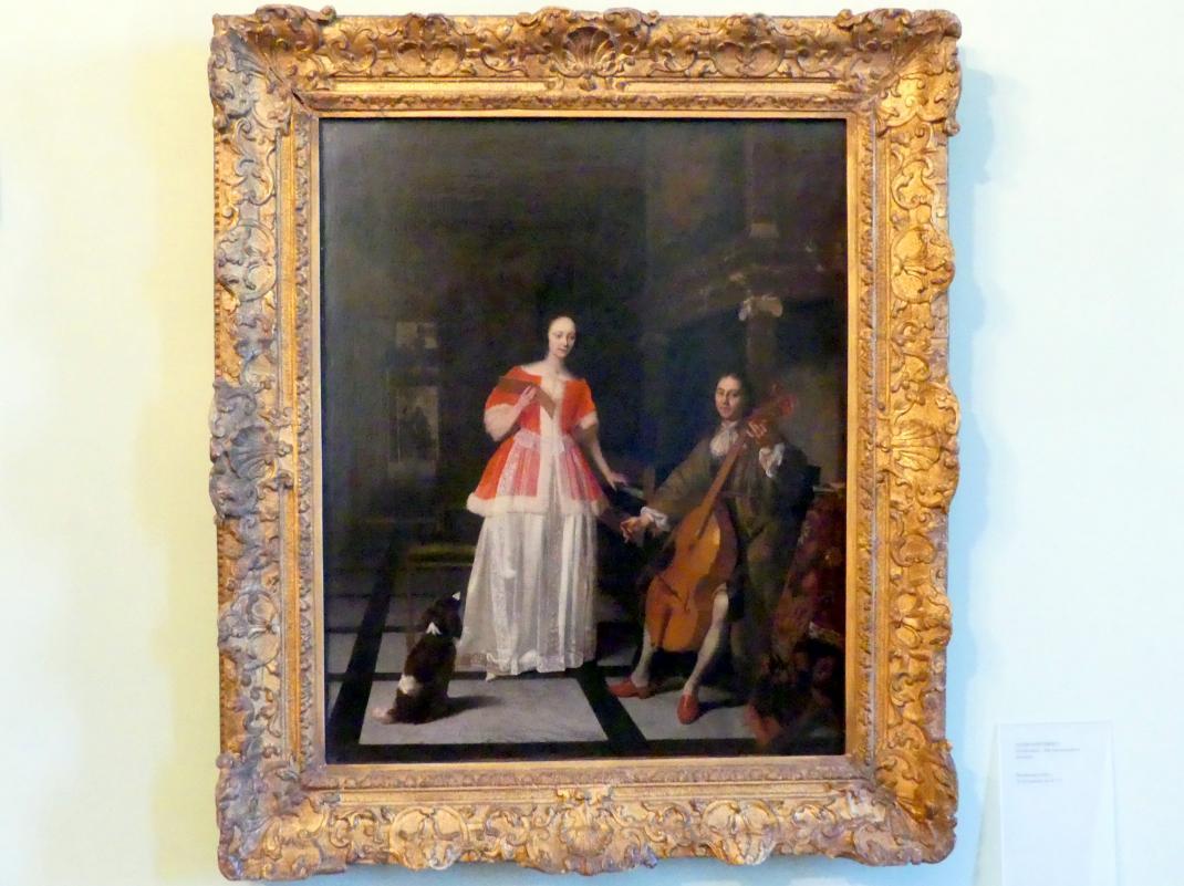 Jacob Lucasz Ochtervelt: Musizierendes Paar, Um 1671 - 1675