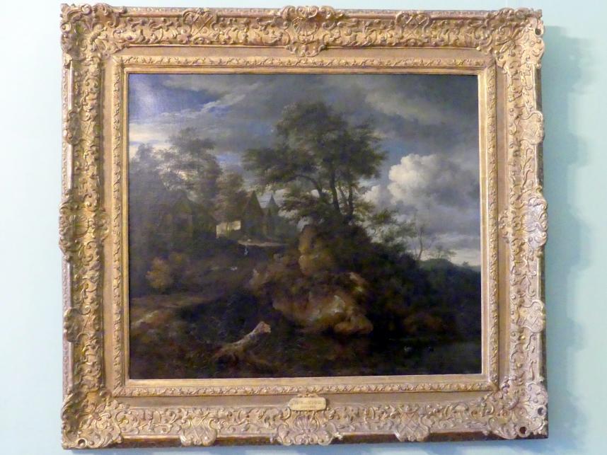 Jacob van Ruisdael: Hügellandschaft mit Blick auf Schloss Bentheim, Um 1650
