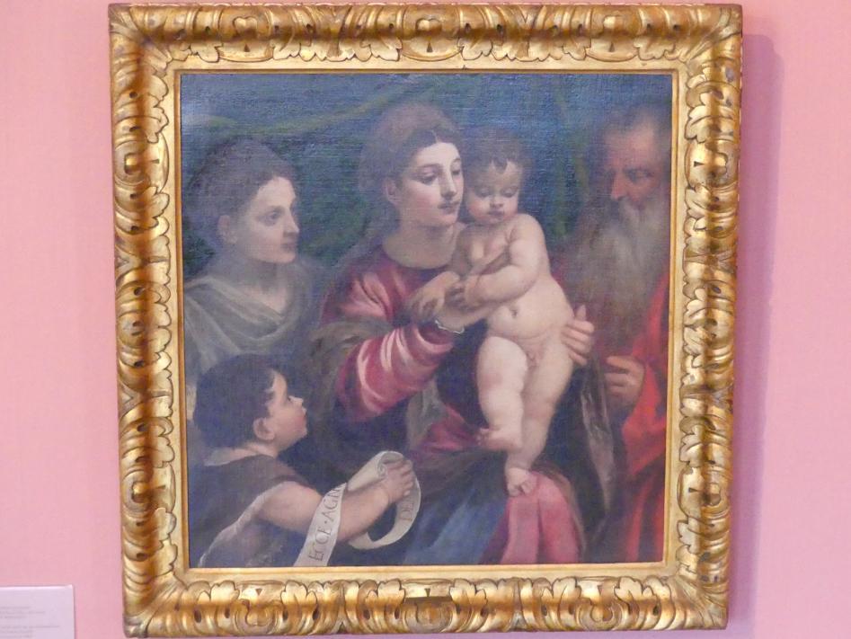 Tiziano Vecellio (Tizian): Die heilige Familie mit dem Johannesknaben und der heiligen Elisabeth, um 1560 - 1561