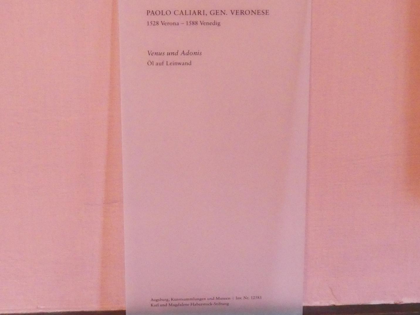Paolo Caliari (Veronese): Venus und Adonis, Undatiert, Bild 2/2