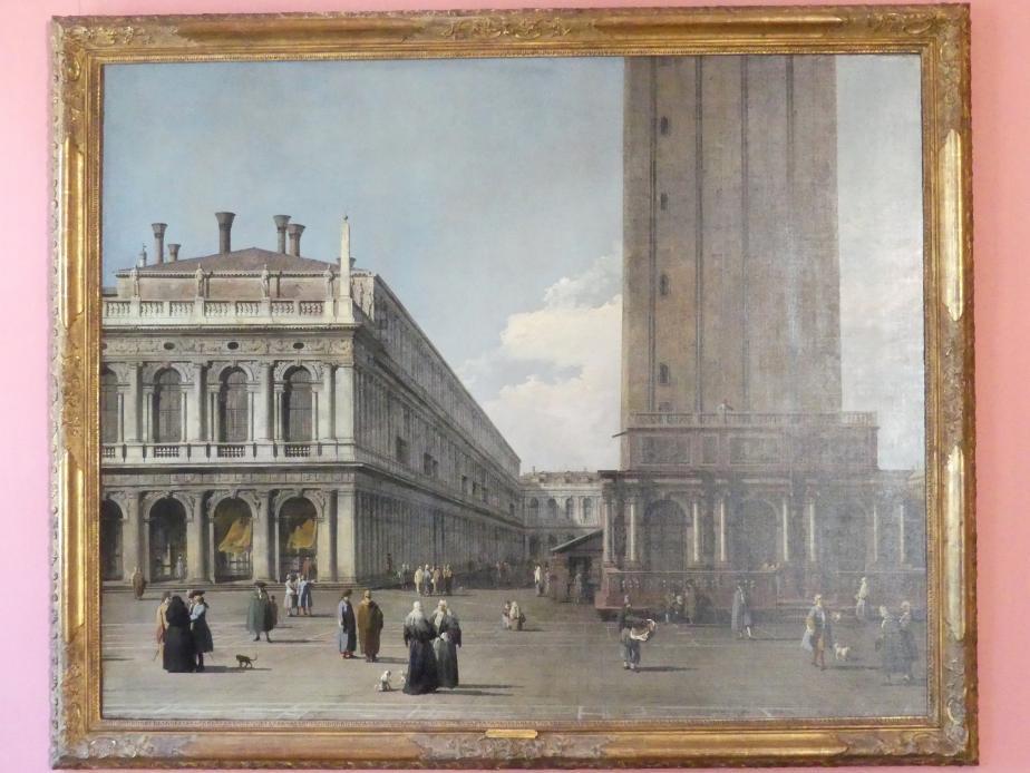 """Giovanni Antonio Canal (""""Canaletto""""): Teilansicht der Piazza San Marco, Um 1735"""
