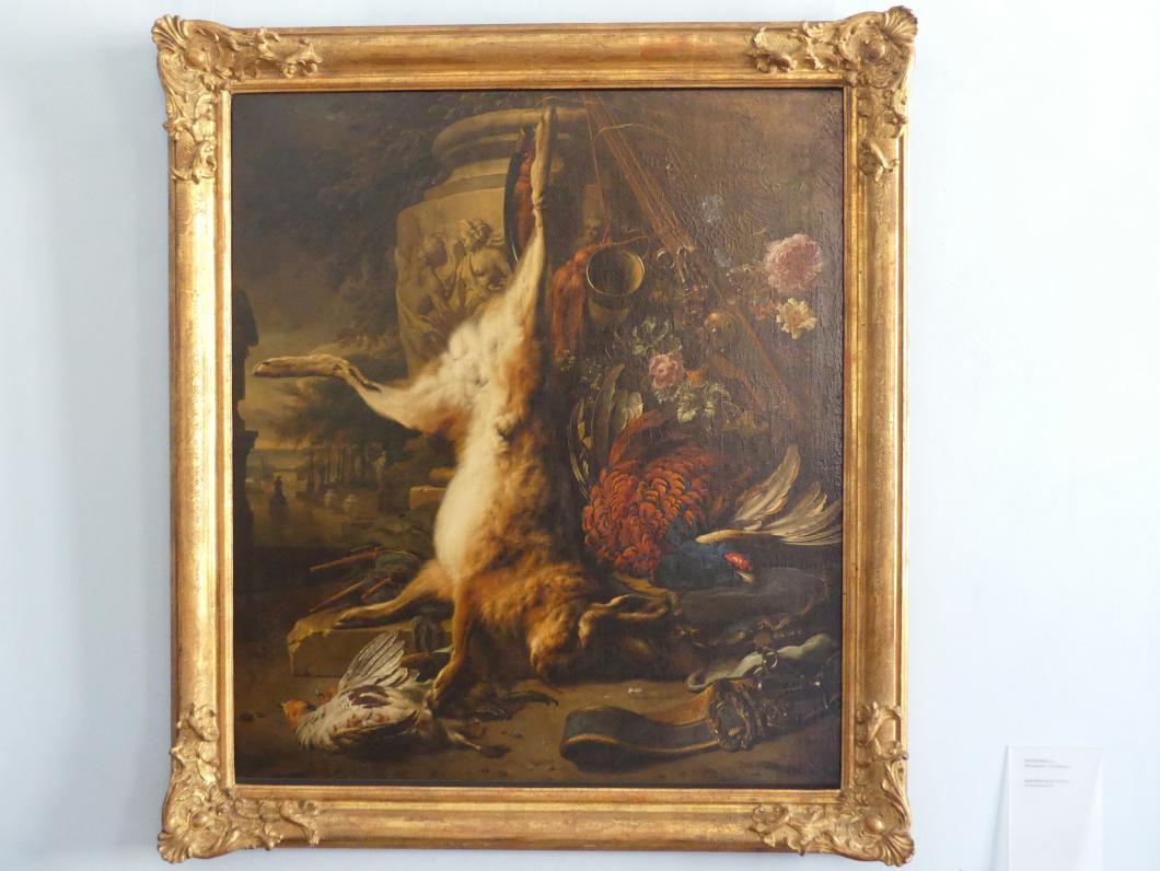 Jan Weenix: Jagdstillleben mit totem Hasen, 1703
