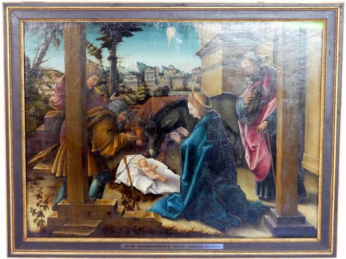 Hans Burgkmair der Ältere: Anbetung der Hirten, 1518