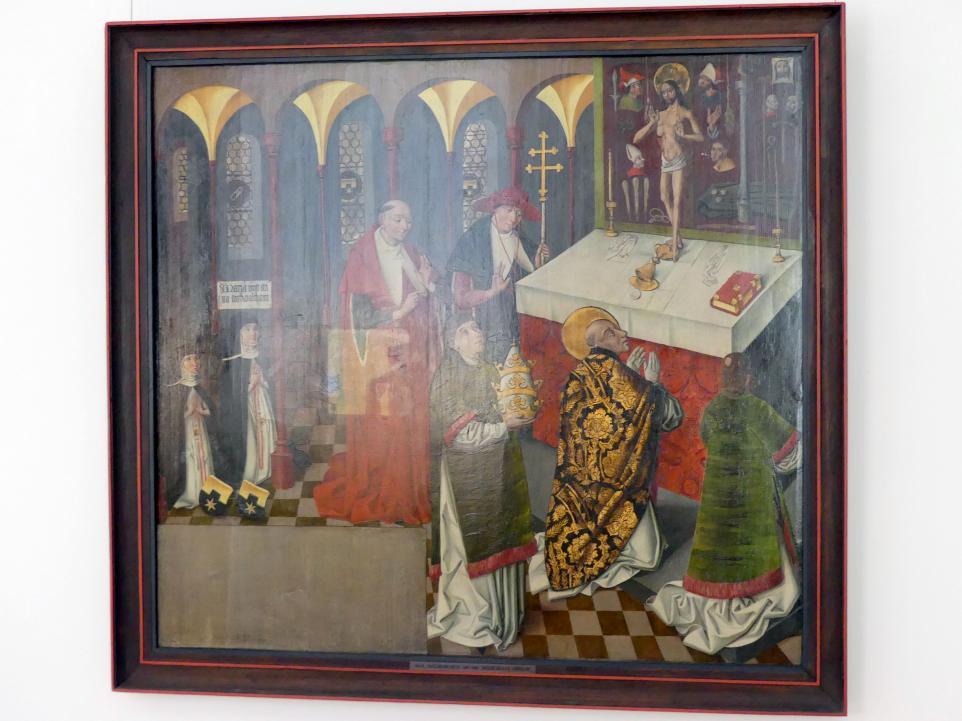 Messe des hl. Gregor, um 1480