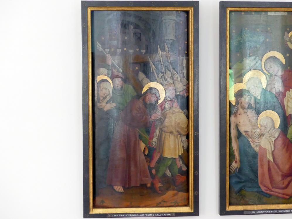Meister von Schloss Lichtenstein: Kreuztragung, um 1450