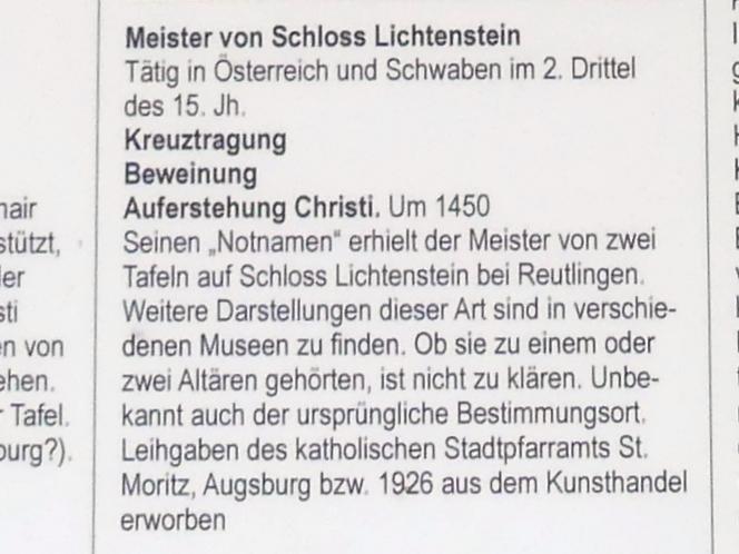 Meister von Schloss Lichtenstein: Beweinung, um 1450, Bild 3/3