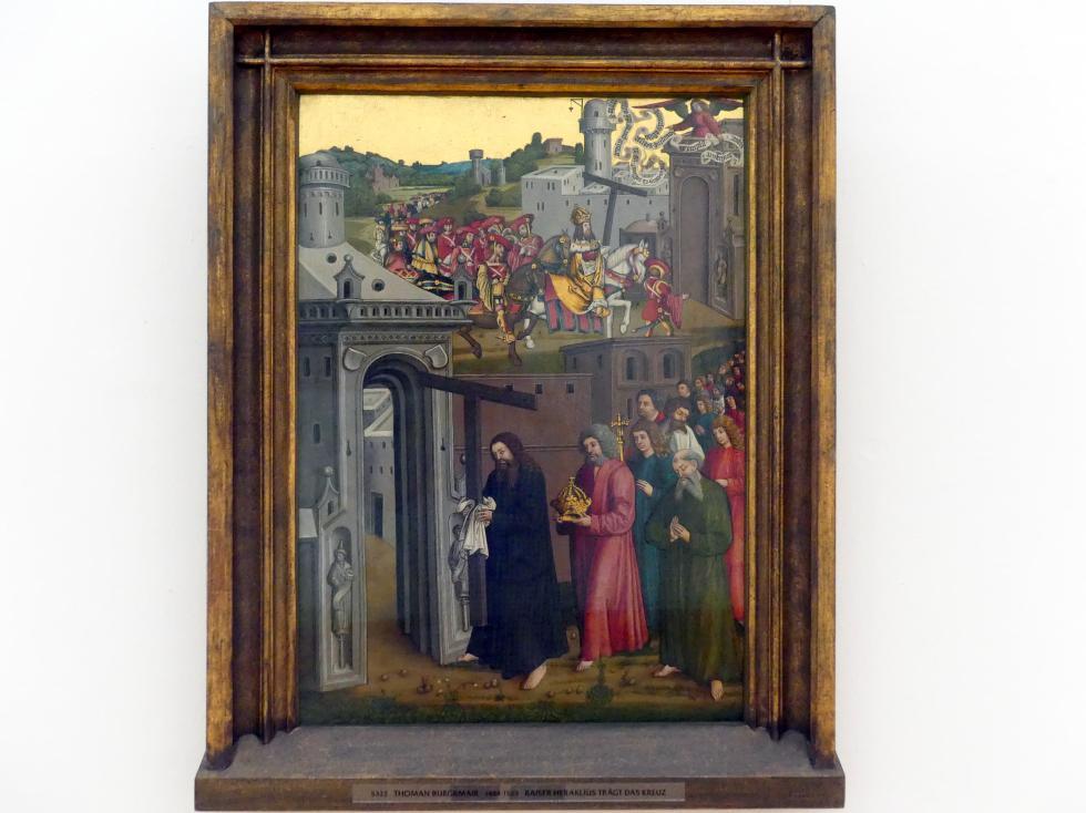 Thoman Burgkmair: Kaiser Heraklius trägt das Kreuz, vor 1510
