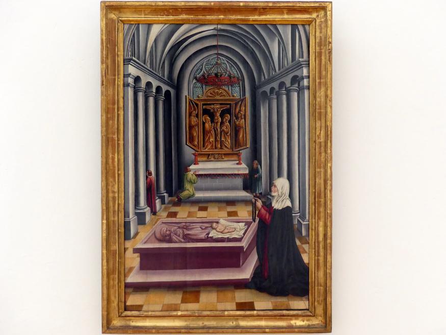 Thoman Burgkmair: Die Wiedererweckung eines totgeborenen Kindes auf dem Grab des hl. Petrus von Mailand, um 1515 - 1520