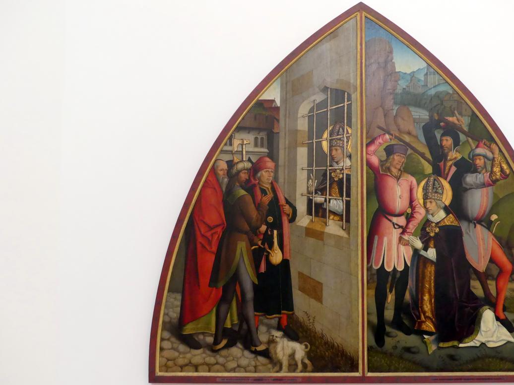 Bartholomäus Zeitblom: Der hl. Valentin bekehrt den Henker, nach 1500