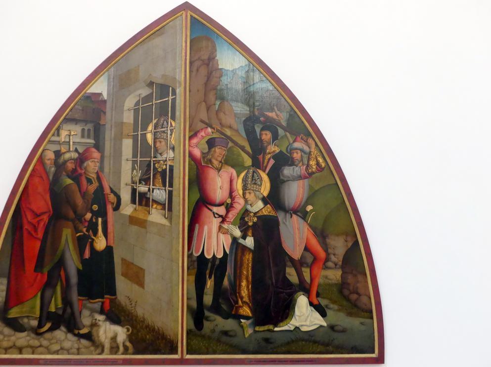 Bartholomäus Zeitblom: Martyrium des hl. Valentin, Nach 1500