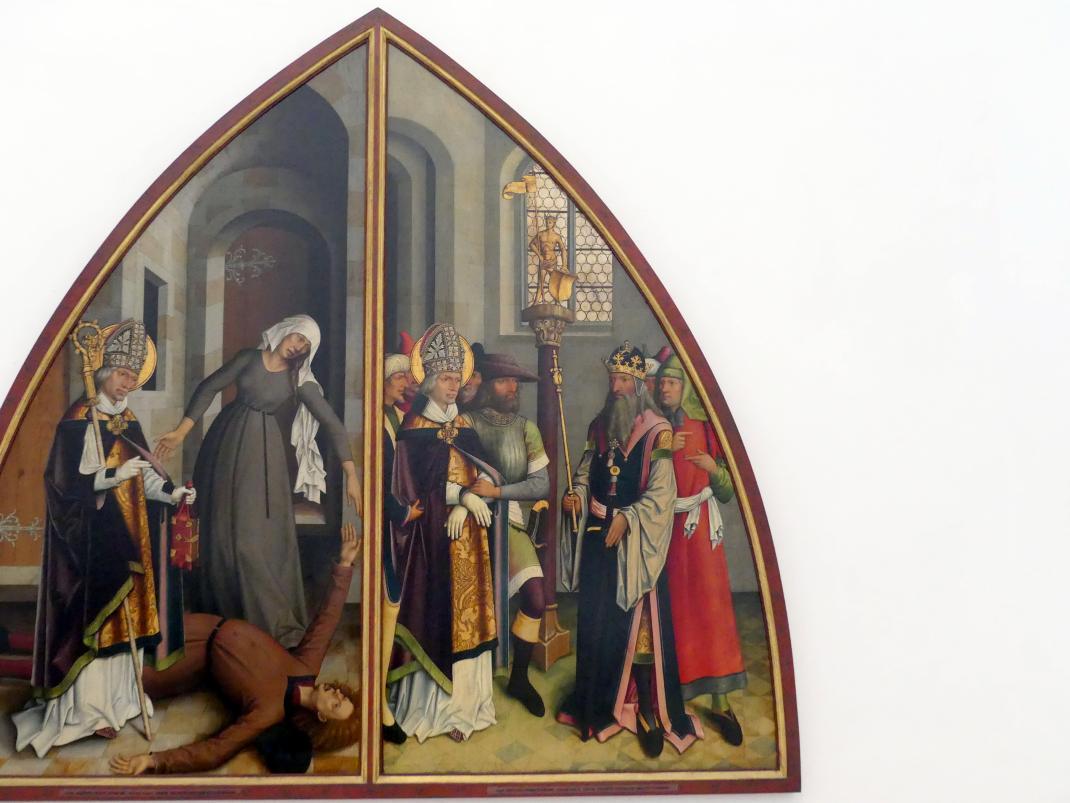 Bartholomäus Zeitblom: Der hl. Valentin verweigert den Götzendienst, nach 1500