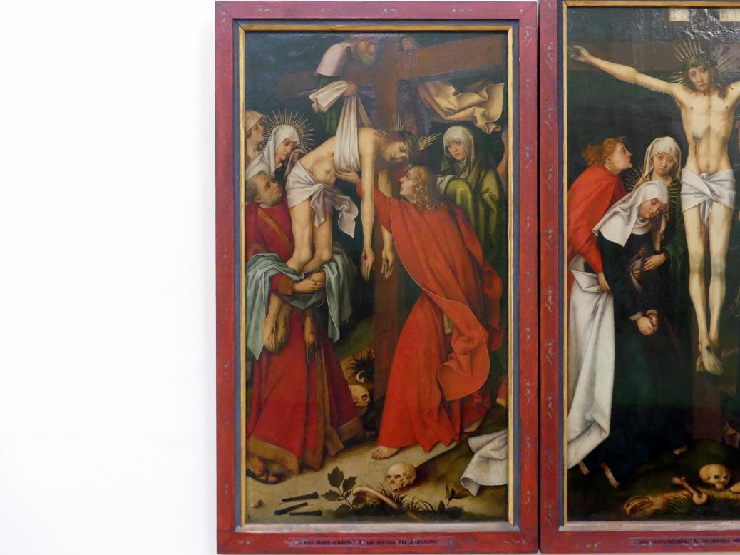 Hans Holbein der Ältere: Kreuzabnahme Christi, um 1500