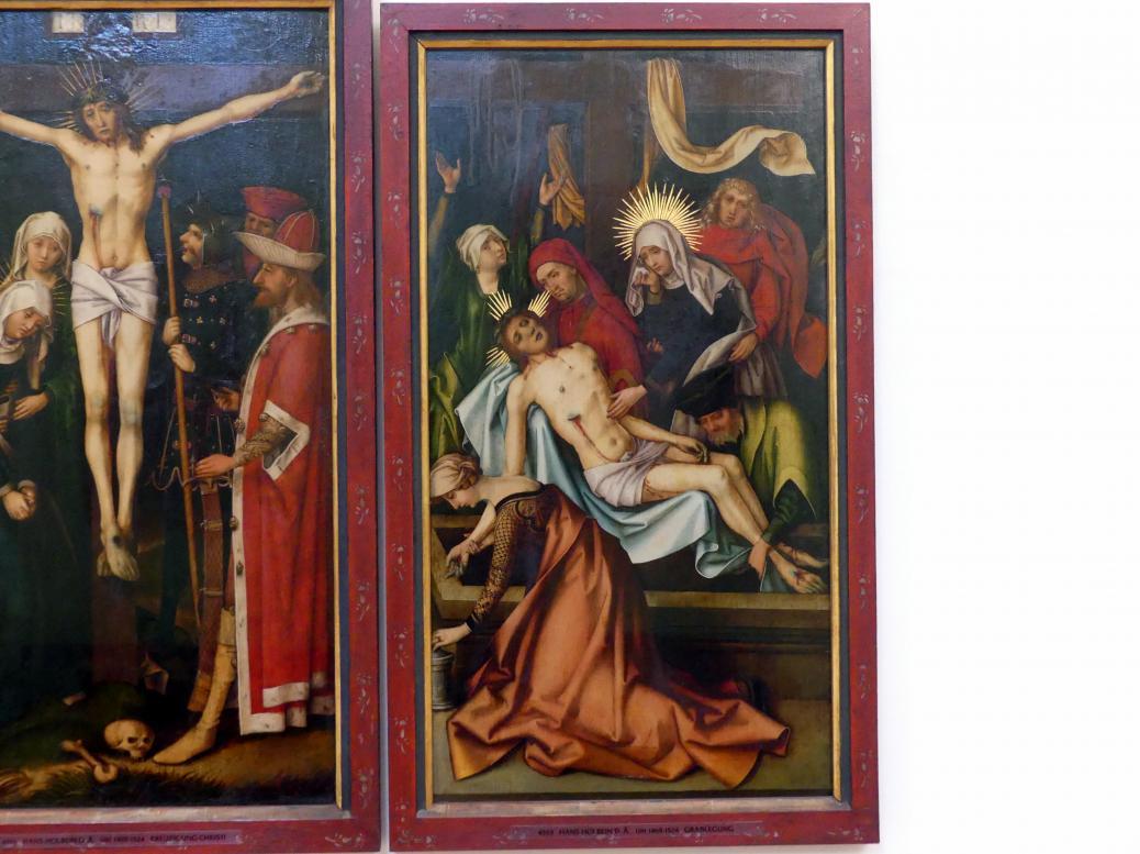 Hans Holbein der Ältere: Grablegung Christi, um 1500