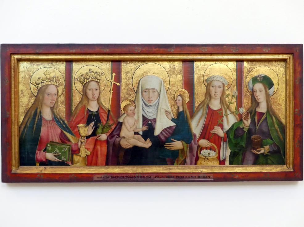 Bartholomäus Zeitblom: Predella mit Heiligen, um 1511