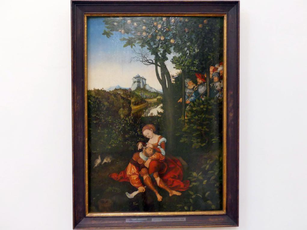 Lucas Cranach der Ältere: Samson und Delila, 1529